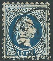 1875-73 AUSTRIA LEVANTE USATO EFFIGIE FRANCESCO GIUSEPPE 10 S - RC26-6 - Eastern Austria