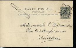 Carte-vue  (Haute - Croix) Obl. 1905  + Griffe De SRAGES - BELLINGHEN - Sello Lineal