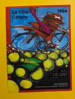 17666 - Céligny La Côte 1994 Alex Périence   Guitariste Cycliste - Art