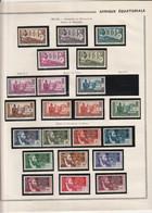 AEF 1937 à 1944 Neuf* - Unused Stamps