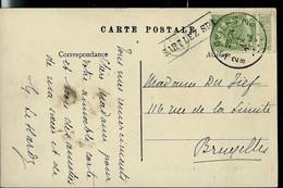 """Carte-vue  ( Environs De Spa) Obl. VERVIERS - 2B - 22/09/1912  + Griffe """" Encadrée """" De SART LEZ SPA - Sello Lineal"""