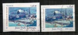 Jean Dufy: La Seine Au Pont Du Carrousel, 2 Timbres Oblitérés 1 ère Qualité, T-p Adhesif 1032 Sur Fragment Letter + 4885 - Gebraucht