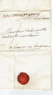 Montbrison Lettre Pour Beaune De 1739 - 1701-1800: Precursori XVIII