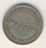 NICARAGUA 1964: 25 Centavos, KM 18 - Nicaragua