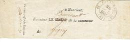 Tonnerre 83 Yonne Bande De Journal Pour Gigny Le Sous Préfet De Tonnerre 22 Décembre 1841 - 1801-1848: Precursori XIX