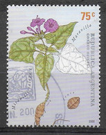ARGENTINA - 2000 - FIORI MEDICINALI - MIRABILIS JALAPA - 75 C. - USATO (YVERT 2221 - MICHEL 2625) - Oblitérés