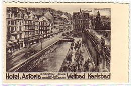 """10367 Ak Weltbad Karlsbad Hotel """"Astoria"""" Um 1940 - Boehmen Und Maehren"""