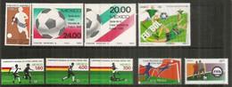Coupes Du Monde: 1978 - 1982 - 1986 - 1994 - 2002 + FIFA Centenaire 2004.    10 Timbres Neufs ** MEXIQUE. Côte 20 Euro - Andere