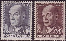 1952 Poland, Mi 725 - 726, WW II, General K. Swierczewski, Walter, Slania, Politikir,  MNH** - Ongebruikt