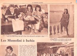 Italia-Italie-Donna Rachele,Anna-Maria,Romano Mussolini, Veuve Et Enfants De Benito à Ischia-Patriote Illustré-10/1946 - 1900 - 1949