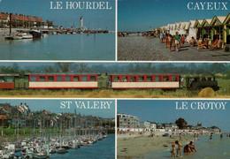 Dep 80 , Cpm Le Petit Train De La Baie De Somme , Le Hourdel , Cayeux , St Valéry , Le Crotoy , Multivues  (23620) - Other Municipalities