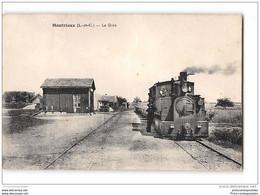 CPA 41 Montrieux La Gare Et Le Train Tramway Ligne Blois Vivienne La Motte Beuvron - Sonstige Gemeinden