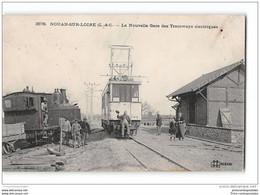 CPA 41 Nouan Sur Loire La Gare Et Le Tramway électrique Ligne De Blois Clery - Sonstige Gemeinden