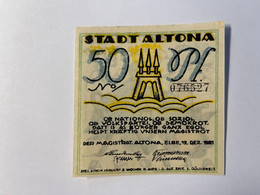 Allemagne Notgeld Altona 50 Pfennig - Collezioni
