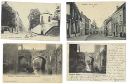 Belgique - SOIGNIES - 10 CP - Rue De Braine, Fontaine, Anciens Fossés Et Pont, Couvent, Collégiale, ... - Soignies