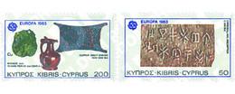 Ref. 62512 * MNH * - CYPRUS. 1983. EUROPA CEPT. GREAT WORKS OF HUMANITY . EUROPA CEPT. GRANDES OBRAS DE LA HUMANIDAD - Minerals