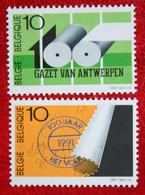 La Presse Het Volk Gazet Van Antwerpen COB 2435-2436 (Mi 2487-2488) 1991 POSTFRIS MNH ** BELGIE BELGIEN BELGIUM - Ungebraucht