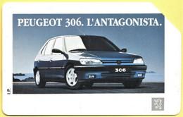 "MA19 Scheda Telefonica Sip ""Peugeot 306"" - L. 10.000 Usata - Scadenza 31-12-94 - Öff. Werbe-TK"