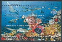 Z0079 - THAILAND - 2001 - MARINE LIFE - UNUSED - SHEET - Tailandia