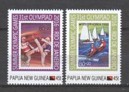 Papua New Guinea MNH Set SUMMER OLYMPICS RIO DE JANEIRO 2016 - STAMP ON STAMP - Zomer 2016: Rio De Janeiro