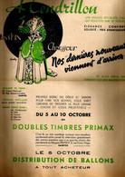 Publicité Pub Cendrillon Lanskin Chausseur Saintes Illustrateur Duchy ? - Timbre Primax - Advertising