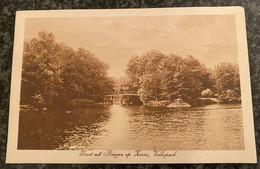 Groet Uit Bergen Op Zoom - Volkspark   - Gelopen 1922 - Bergen Op Zoom