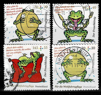 Bund 2018,Michel# 3357 - 3359 + 3364 O Der Froschkönig - Used Stamps