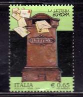 ITALIA REPUBBLICA ITALY REPUBLIC 2008 EUROPA LA LETTERA € 0,65 CASSETTA POSTALE D'EPOCA USATO  USED OBLITERE' - 2001-10: Usados