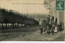 13245      Essonne  -  ORSAY  : La Promenade Place De La Mairie  ....circulée En 1909 - Orsay