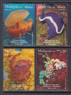 2015  Malaysia Marine Life Complete Set Of 4 MNH - Malaysia (1964-...)