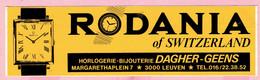 Sticker - RODANIA Of SWITSERLAND - DAGHER-GEENS - Margarethaplein LEUVEN - Pegatinas
