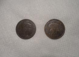 LOT Pièces 2 Centimes De 1901 Et 1916 Daniel Dupuis 1898 à 1920 - B. 2 Centimes