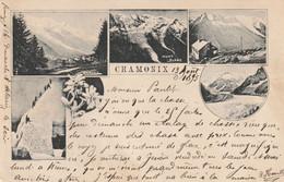 CHAMONIX : Multi Vues. L'une Des Premières CP Illustrées De La Ville. (13 Août 1895). - Chamonix-Mont-Blanc