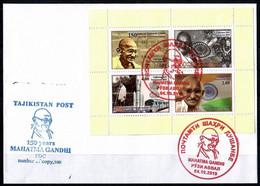 Tajikistan 2019 FDC 04.10.2019 Mahatma Gandhi Limited Edition  Number Of Copies, 100 - Mahatma Gandhi