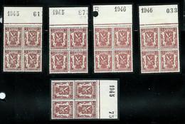N° 715 Et A   Bloc De 4    **  Millésimes 1945 (x3) Et 1946 (x2) - 1935-1949 Small Seal Of The State