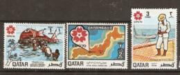 Qatar  1970  SG  331-3  Expo 70   Mounted Mint - Qatar