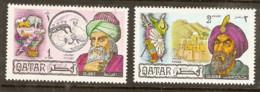 Qatar  1971  SG  343-4   Famous Men   Mounted Mint - Qatar
