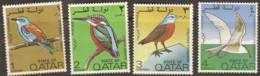 Qatar  1972  SG 391-4  Birds  Mounted Mint - Qatar