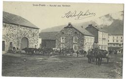 Belgique - TROIS-PONTS - 1 CP - Marché Aux Bestiaux - Vaches, Chevaux - Trois-Ponts