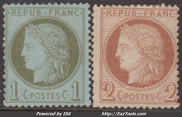 1c Et 2c Cérès Neuf (*)  TB (Y&T N° 50 51 , Cote *: 300€) - 1871-1875 Ceres