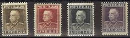 1927 - ITALIA Regno - 4 Valori ** (46) - Mint/hinged