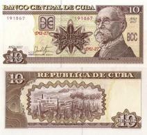 CUBA 10 Pesos, 2017, P-NEW, (not Listed In Catalog), New Signature, UNC - Cuba
