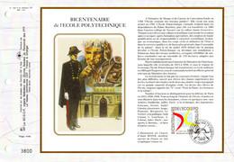 """"""" 200 ANS DE L'ECOLE POLYTECHNIQUE """" Sur Feuillet CEF 1er Jour Sur Soie De 1994. N° YT 2862. FDC - Other"""