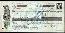 Bolivia 1974 Letra De Cambio $b4.-. Lito Copacabana. Transacciones $b 2.- Bisecado Tipo H&A #126. - Bolivia