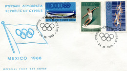 GREECE 1968 FDC MEXICO 1968. - Briefe U. Dokumente