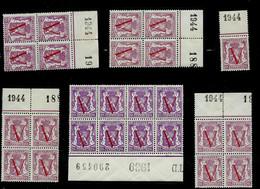 N° 672     Bloc De 4 Et Autres    **  Millésimes 1939 Et 5 X 1944 - 1935-1949 Small Seal Of The State