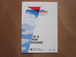 AIR INTER FRANCE PARAY AIRWAYS AIRLINE TICKET HOLDER BOOKLET TAG LUGGAGE BUGGAGE PLANE AIRCRAFT AIRPORT - Unclassified