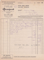 Lot 17 Factures De Roubaix (59) Pour Lys-lez-Lannoy (59) - 1953/1955 - Société Roubaisienne D'Automobiles - Peugeot 203 - Automobil
