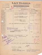Facture De Paris (75) Pour Lézignan-Corbières (11) - 31 Janvier 1946 - Lait Gloria - Usine à Carentan (50) - Lebensmittel