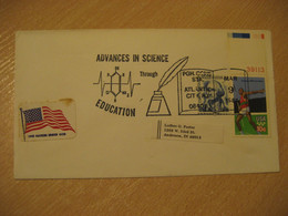 ATLANTIC CITY 1981 Advances In Science Education Cancel Cover USA Chemistry Chemical Chimie Science - Chemistry